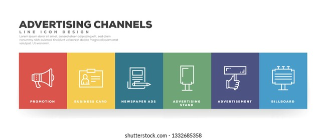 Advertising Channels Banner Concept