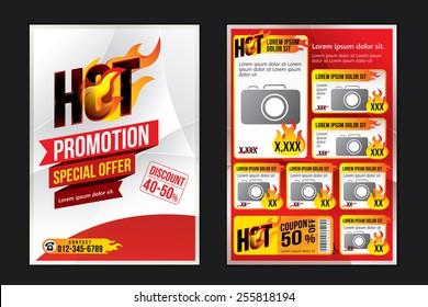 Advertising design template. Vector illustration
