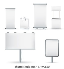 Advertising format in vector illustration