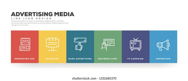 Advertising Media Banner Concept