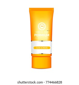 Advertising, protection, sunscreen, design, cosmetics, template, cream, product, vector, separated from the white ground