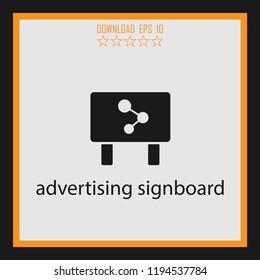 advertising singboard vector icon