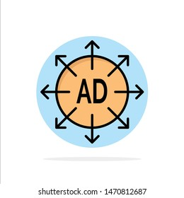 Advertising, Submission, Advertising Submission, Ad Abstract Circle Background Flat color Icon. Vector Icon Template background