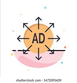 Advertising, Submission, Advertising Submission, Ad Business Logo Template. Flat Color