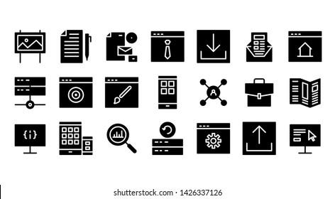 advertisment glyph icon symbol set