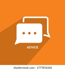 advice icon, Business icon vector