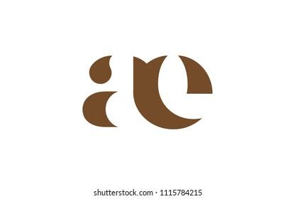 ae ea a e Lowercase Letter Initial Logo Design Template Vector Illustration