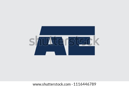 ae ea e uppercase letter initial stock vector royalty free
