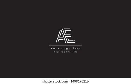 AE or EA letter logo. Unique attractive creative modern initial AE EA A E initial based letter icon logo