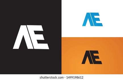AE or EA logo. Unique attractive creative modern initial AE EA A E initial based letter icon logo