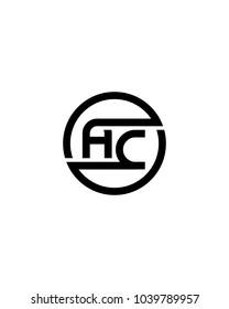 AE initial circle logo template vector
