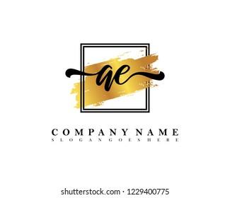 AE Initial handwriting logo concept