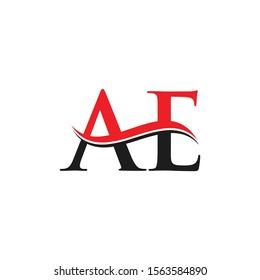 AE Letter Linked Logo. AE Letter Modern Business Logo Vector template.