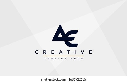 AE Letter Logo Design. Creative Modern A E Letters icon vector Illustration.