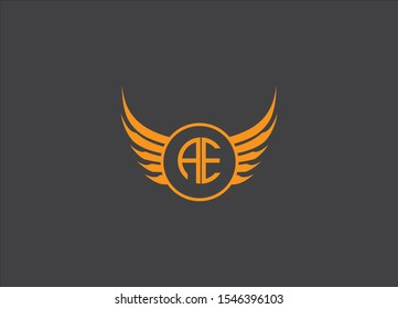 AE letter logo design image - vector