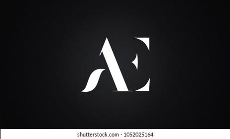 AE Letter Logo Design Template Vector
