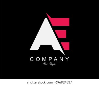 AE Letter Logo Design Template Element