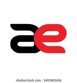 ae Letter Logo Design Vector