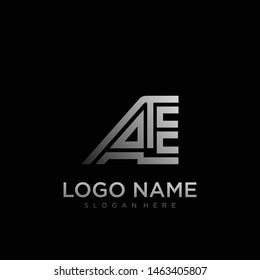 AE Letter Logo geometric Vector