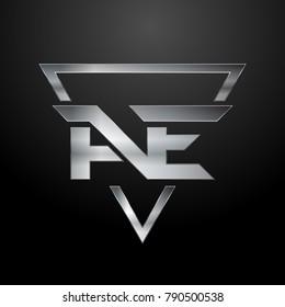 AE Logo, Monogram, Metal