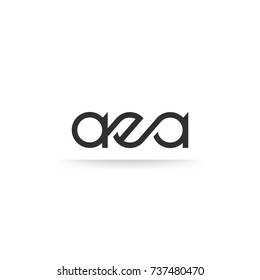 AEA lettering Logo vector isolated on white background