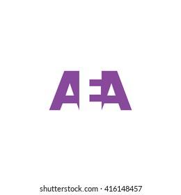 AEA Logo. Vector Graphic Branding Letter Element. White Background