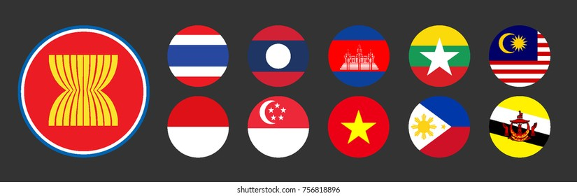AEC Asean Economic Community flags