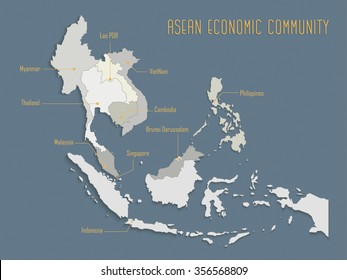 AEC : ASEAN Economic Community / ASEAN MAP / the regional economic i agenda in south east asia
