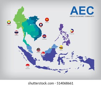 AEC Asean Economic Community map