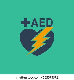 AED (Automated External Defibrillator) vector logo
