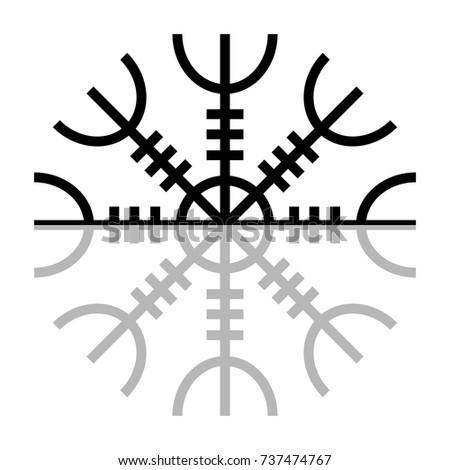 Aegishjalmur Norse Symbol Paganism Stock Vector Royalty Free