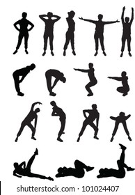 aerobics girls - vector