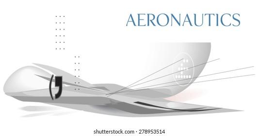 Aeronautics concept. Vector
