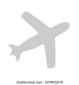aeroplane icon - vector airplane, travel icon, flight illustration