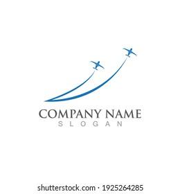 Aeroplane logo icon vector illustration template design