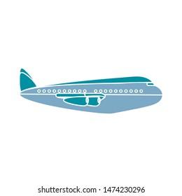 aeroplane silhouettes icon. flat illustration of aeroplane silhouettes vector icon. aeroplane silhouettes sign symbol