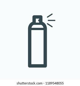 Aerosol icon. Spray cosmetic vector icon