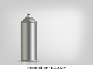 Aerosol spray on grey background. Vector illustration. Vector illustration for your presentation.