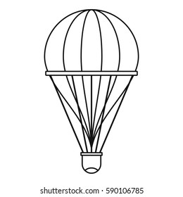 Aerostat icon. Outline illustration of aerostat vector icon for web
