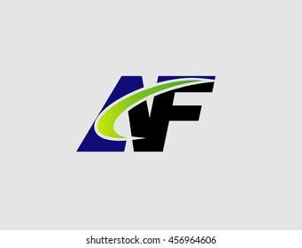 AF company linked letter logo