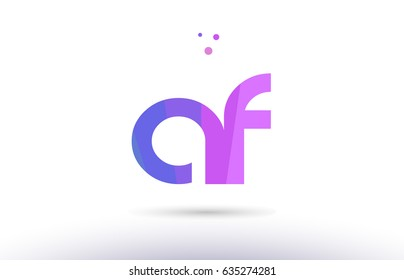 af a f alphabet letter purple pink magenta blue colorful creative colors text dots creative company logo vector icon design template