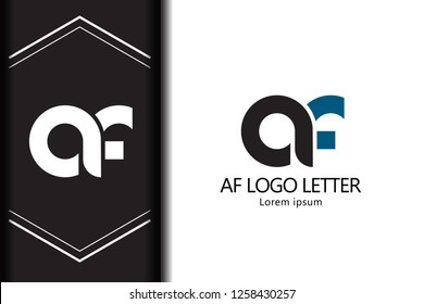 af a f black blue white lowercase modern creative alphabet for company letter logo design vector icon template - Vector