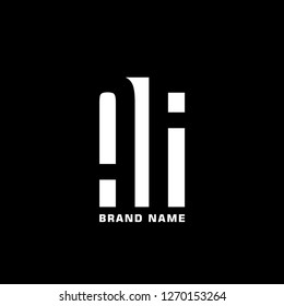 AF A F Logo design with negative space concept. Vector illustration