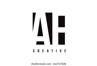 AF A F White Letter Logo Design with Black Square Vector Illustration Template.