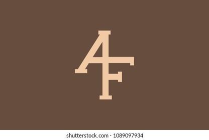 AF FA Letter Initial Logo Design Template