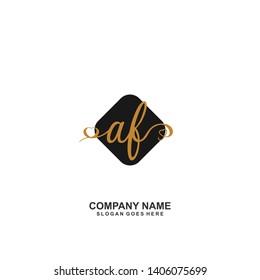 AF Initial handwriting logo vector