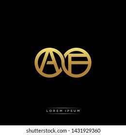 AF initial letter linked circle capital monogram logo modern template