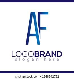 AF Initial Letter Linked logo icon vector