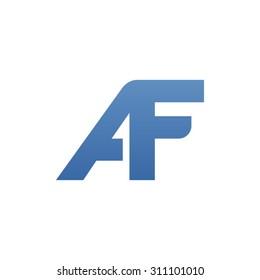 AF letter logo connected