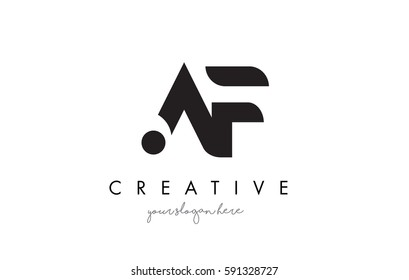 AF Letter Logo Design with Creative Modern Trendy Typography and Black Colors.
